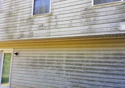 Mildew Wall Before